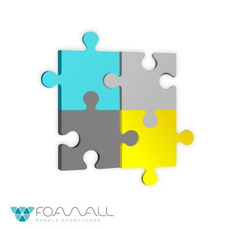 Panele puzzle zielenie zimne