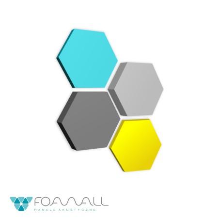 Panele soft hexa żółcie