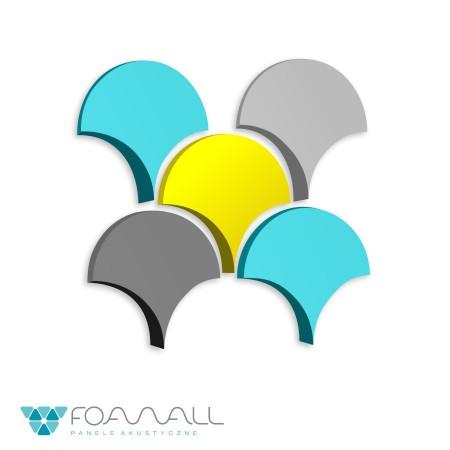 Panele 3D drop błękity