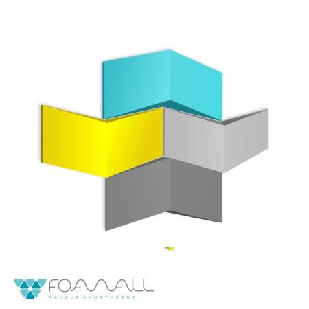 Panele 3D arrow szarości zimne