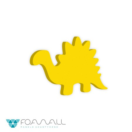 Panele decor w dinozaury stegosaurus turkusy
