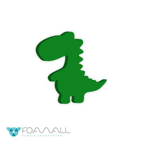 Panele decor dinozaury rex zielenie zimne
