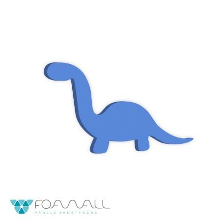 Panele decor w dinozaury brontosaurus  zielenie zimne