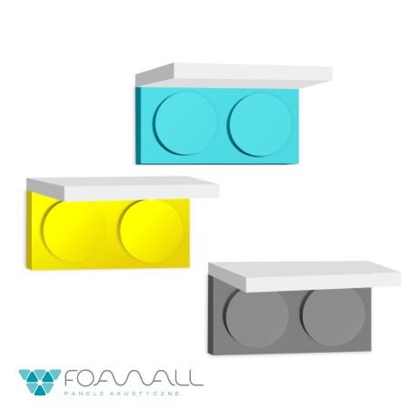 Półka block short żółcie