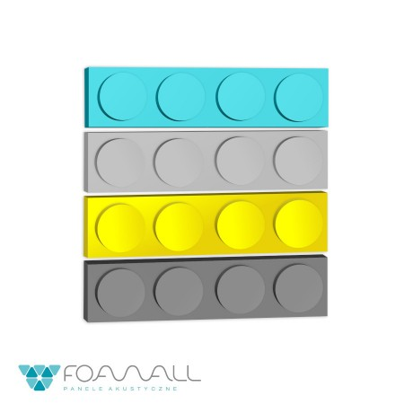 Panele block M żółcie